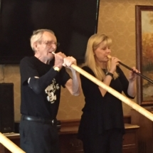 Alphorn Performance-Villas of Lilydale-playing the Alphorn for the Villas of Lilydale tenants